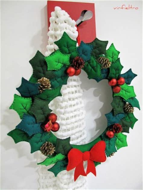 coronas navideas de fieltro ideas para decorar en navidad con fieltro ideas navidad