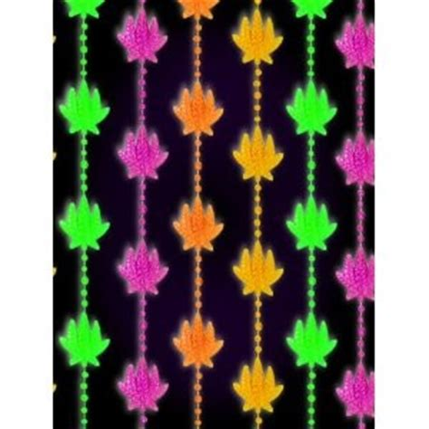 glow in the dark beaded curtains marijuana pot leaf blacklight reactive beaded curtain ebay