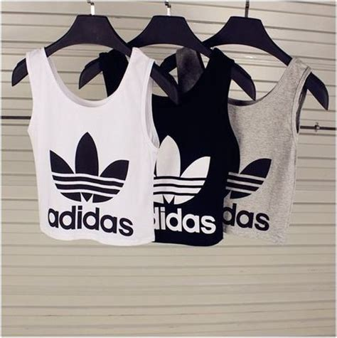 Ssc Adidas Square Crop Sweater Ml adidas crop tops style grey and