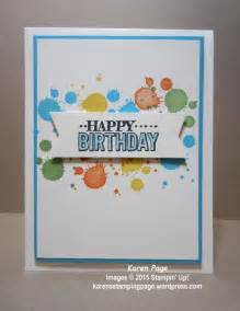 birthday card made using stin up big day st set from 2015 sale a bration and gorgeous