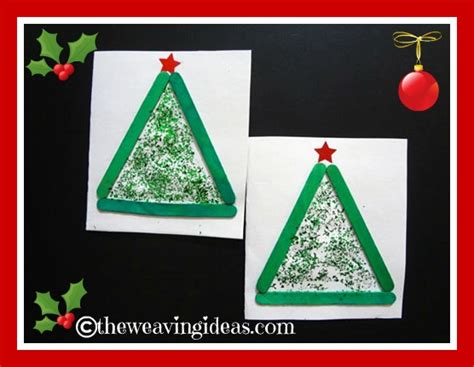 easy christmas cards for kids to make theweavingideas