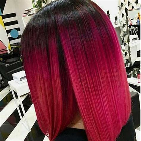 middle aged women who dye their hair magenta unique colored bob hairstyles you should see bob