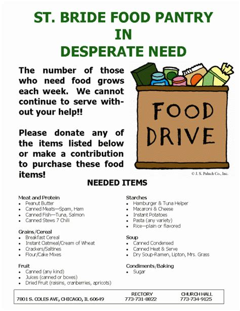 Food Pantry Needs List by Church Of Food Pantry Needs Assistance