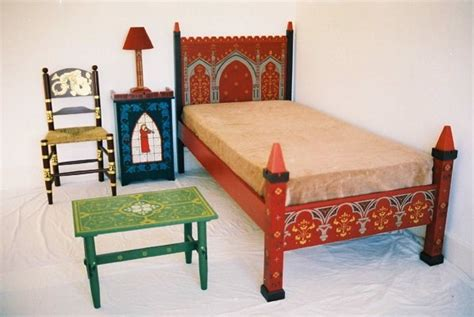 painted beds gothic revival painted wooden beds bedroom furniture