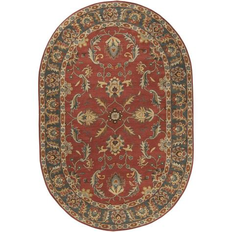 6 x 9 oval area rugs artistic weavers chenni burgundy 6 ft x 9 ft oval indoor area rug s00151006200 the home depot