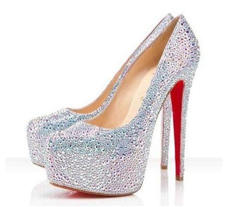 sparkly high heels white glitter highheels picture