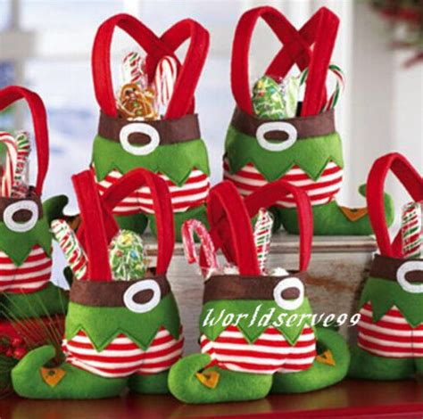 christmas candy party favor ideas 4pcs favors sweet sack treat bag gift santa boots tote decoration