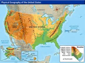 map of the us and canada physical features week 16 weekly geography questions