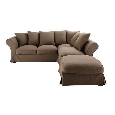 divano roma maison du monde divano ad angolo trasformabile color talpa in cotone 6
