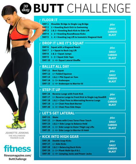 thirty day workout challenge 30 day challenge exercises fitness magazine