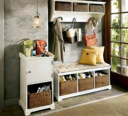 Bamboo Shoe Rack Bench Storage Bench In The Hallway 20 Ideas For Hallway Space