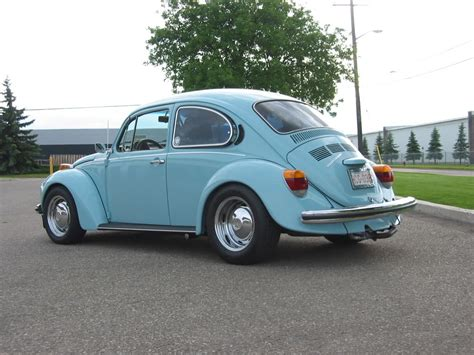 volkswagen bug wheels modified deep dish stock rims on 74 super beetle