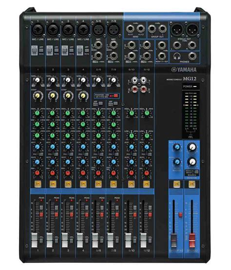 Mixer Yamaha 2 Channel yamaha mg12 12 channel analog mixer buy yamaha mg12 12 channel analog mixer at best