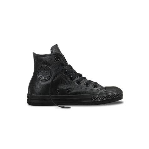 Conversehigh Total Black converse leather all total black 135251c u premium