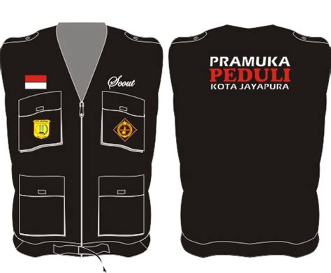 Topi Jala Loreng Pramuka seragam rompi pramuka vest drill kip s production