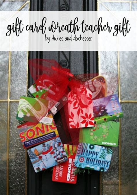 Gift Card Wreath For Teacher - gift card wreath teacher gift dukes and duchesses
