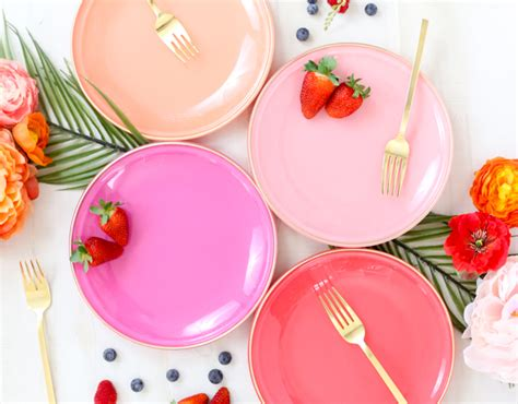 colorful plates a kailo chic diy it custom colored glass plates