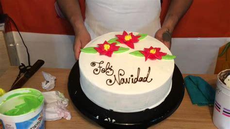 pasteles decorados con chantilly pastel decorado de navidad 1 youtube