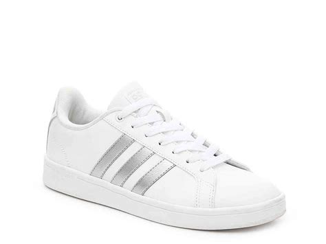 womens white sneaker adidas neo advantage sneaker white silver metallic