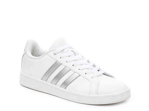 adidas neo advantage sneaker whitesilver metallic women