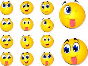 Cute ronund smiles icons set emoticons icons free download