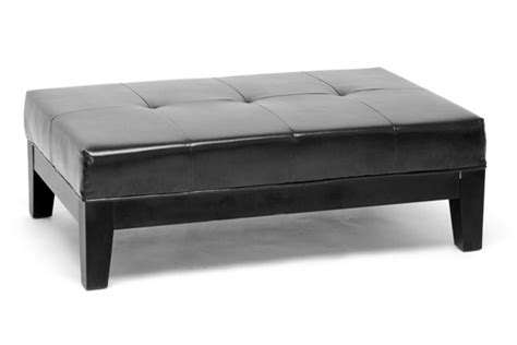 Ottomans And Benches Baxton Studio Leather Storage And Bench Ottomans