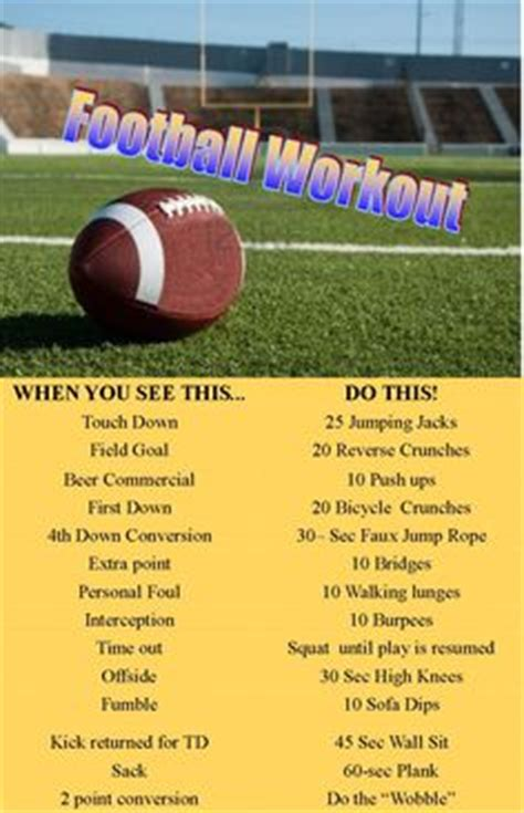 exercises for tv baseball on football