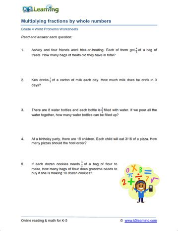 Math Problems For 4th Graders Worksheets