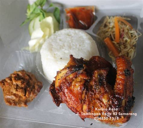 paket menu nasi box nasi kotak ayam bakar rempah pondokmakan kurniarasa nyamleng