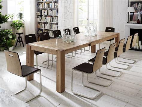 Esszimmer Naturholz by Essgruppe Tisch Mit Auszug St 252 Hle Lederbezug Esszimmer