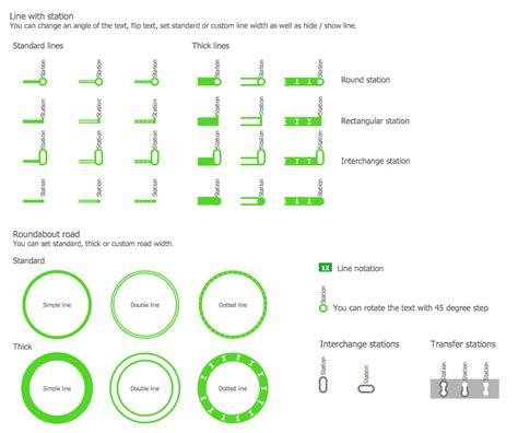 design elements metropolitan subway train map
