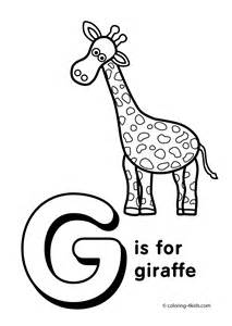 letter g coloring page free letter g activities coloring pages