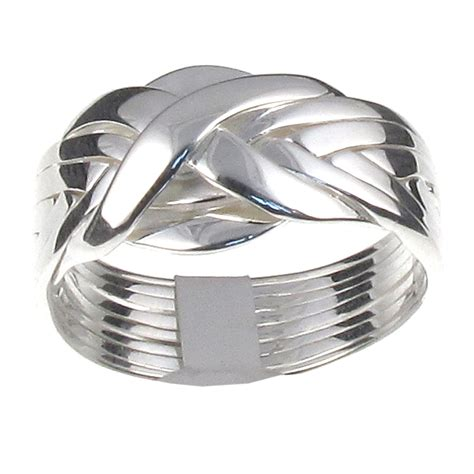 sterling silver 8 band puzzle ring classic design