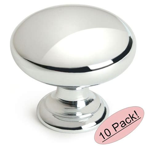 10 pack cosmas cabinet hardware polished chrome knobs