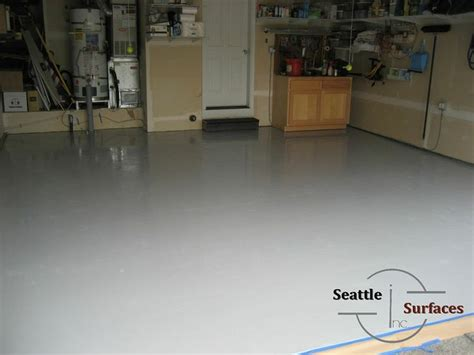 solid colored epoxy garage floor over an epoxy moisture
