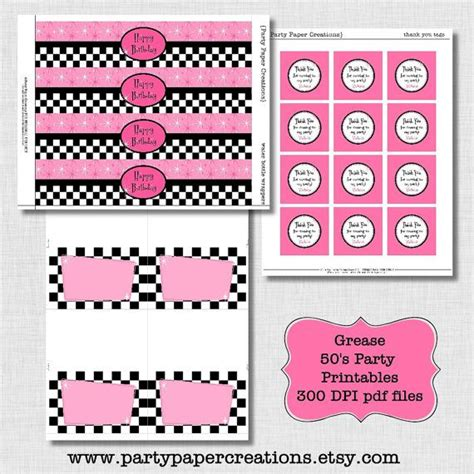 1000 Images About 1950 S Party Ideas On Pinterest Party Printables Grease Theme And Diners Grease Invitation Template