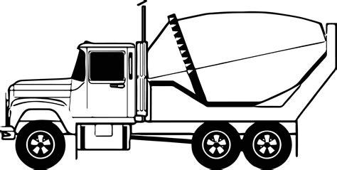 coloring concrete cement truck line coloring page wecoloringpage