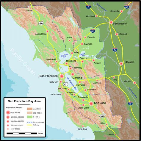 san francisco map elevation population map san francisco mapsof net