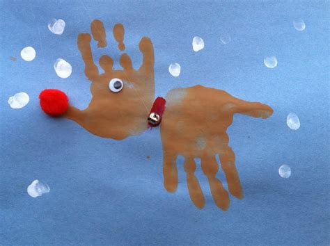 reindeer craft projects activities for handprint reindeer