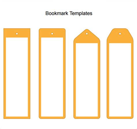 bookmark template word sle blank bookmark 6 documents in pdf word