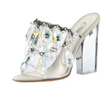 Prada Chandelier Shoes Prada S Chandelier Sandals The It Shoes Of The Season Gt S Chandeliers Sandals And Bling
