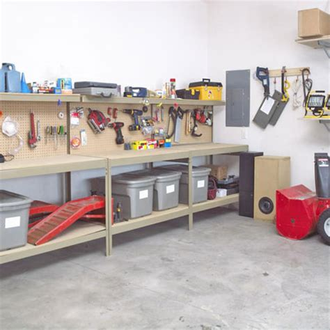 garage storage ideas shelves and racks shelterness
