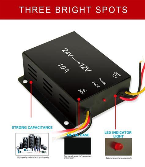 Step Dc To Dc 24v 12v 30 A Car Power Transformer Souer Original factory direct sale battery use dc dc step boost converter 24v to 12v 5a 10a 15a 20a 30a