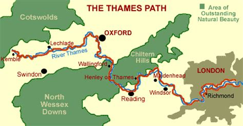 thames river cycle path map thames path national trail