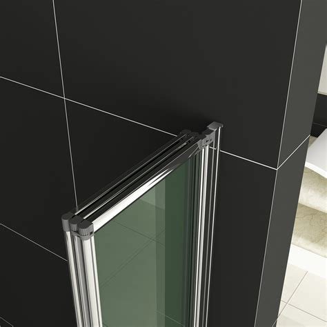 Folding Glass Shower Door 1 2 3 4 5 Fold Pivot Folding Bath Shower Screen 1400 Glass Door Panel Seal Ebay