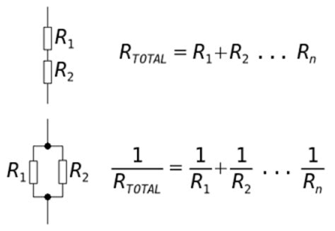 resistors in series and in parallel resistors