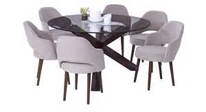 matheson nubica 6 seater round glass top dining table