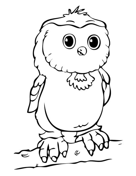 coloring pages of cartoon owls cartoon owl coloring pages cliparts co