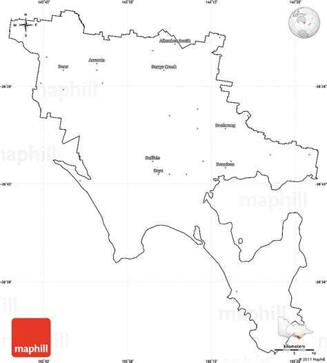 Blank Outline Map South Australia by Blank Simple Map Of South Gippsland Cropped Outside