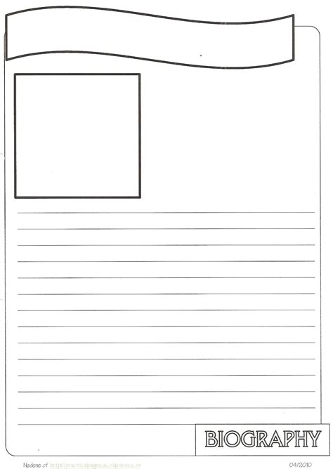 biography facts template new biography notebook page templates social studies